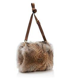 Tory Burch Coyote Fur Muff : Women's Handbags   Tory Burch - which it were a fake fur