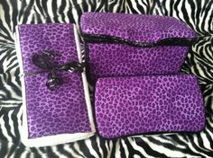 Purple Cheetah Custom Nursery Wipe Travel Wipe by SoCaliCouture, $40.00