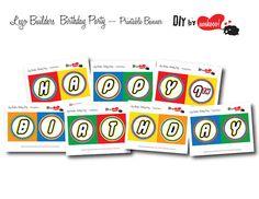 LEGO Birthday Party Printable Banner  by ewehooo by ewehooo, $5.00