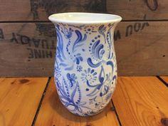 Painted Porcelain Vase by VAceramics on Etsy
