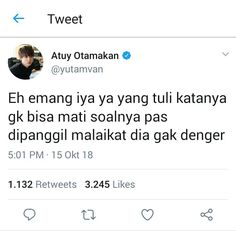 Quotes Lucu, Jokes Quotes, Book Quotes, Memes, Twitter Quotes Funny, Funny Tweets, Funny Jokes, Lame Jokes, Text Jokes