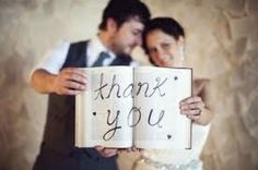 On your wedding day, make one of your photos the photo you will use in the thank you cards you send out for your wedding presents.