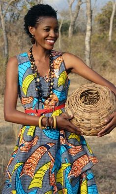 A Zambian design label. African Dresses For Women, African Print Dresses, African Attire, African Wear, African Inspired Fashion, African Print Fashion, Africa Fashion, Trendy Ankara Styles, African Wedding Dress