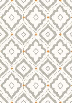 Bungalow #wallpaper in #grey from the Resort collection. #Thibaut