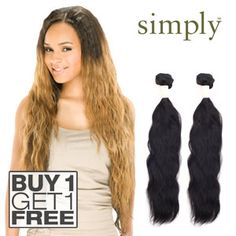 Janet 100 unprocessed remy human hair brazilian bombshell natural outre simply 100 non processed brazilian human hair buy 1 get 1 free pmusecretfo Images