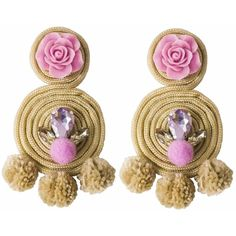 Ricardo Rodriguez Design - Spiral Earrings ($109) ❤ liked on Polyvore featuring jewelry, earrings, pom pom jewelry, special occasion jewelry, stud earrings, cocktail jewelry and earring jewelry