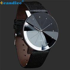 Luxury Quartz Sport Military Stainless Steel Dial Leather Band Wrist Watch Men - Glamorous Gift Ideas
