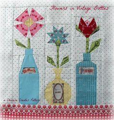 Flowers in Vintage Bottles pattern on Craftsy.com