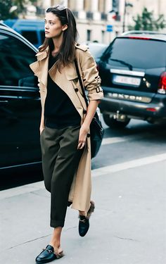 Long burberry trench coat