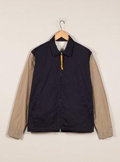 Universal Works Navy Windcheater Jacket in Twill