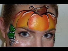 Pumpkin Mask Face Painting Tutorial - YouTube