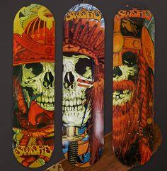 Skateboards #Skull   #Illustration