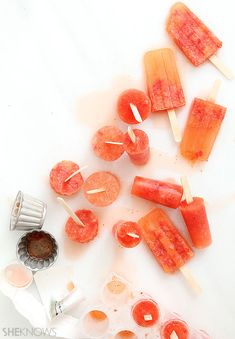 Strawberry margarita cocktail popsicle