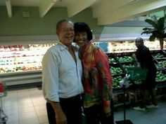 Two Jamaican Prime Ministers in a Supermarket. Who says these people don't know the prices in the street...[Bruce] Mr. Golding & [Sister P] Portia Simpson-Miller- Caught Shopping - Candid moment