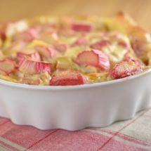 Ma recette du jour : Tarte à la rhubarbe sur Recettes.net