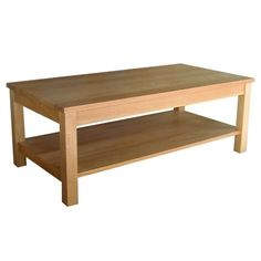 Oakland Coffee Table - Lower Shelf - Oak - http://homeimprovementx.co.uk/coffee-table/oakland-coffee-table-lower-shelf-oak/