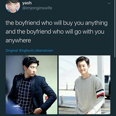 Chanyeol is boyfriend material Park Chanyeol Exo, Kpop Exo, Kyungsoo, Exo Ot12, Chanbaek, Baekyeol, Xiuchen, Kpop Memes, Exo Members