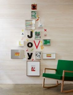 Joy Tree out of cards - so cute!