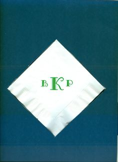 We have a variety of monogram choices. Visit us at www.napkinspersonalized.com to learn more.