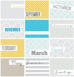 Imprimible inspirado en diseños geométricos para todo el año 2013 y parte de 2014 >> seven thirty three - - - a creative blog: Geometric Calendar {Free Printable}