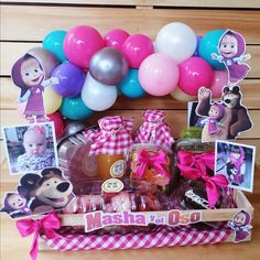 Diy Birthday, Birthday Gifts, Happy Birthday, Breakfast Basket, Birthday Hampers, Balloon Gift, Diy Hair Bows, Valentine Wreath, Party Centerpieces