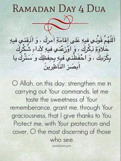Day 4 Ramadan Prayer, Ramadan Day, Muslim Ramadan, Ramadan Mubarak, Islamic Dua, Islamic World, Islamic Qoutes, Islamic Prayer, Ramzan Dua