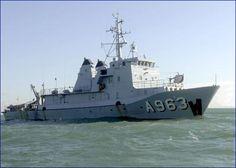 Belgian Navy A963 Stern - Support Vessel.