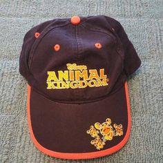 Walt Disney World Embroidered Animal Kingdom Adjustable Velcro Black Hat Cap