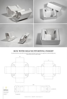 Box with Self-Supporting Insert – FREE resource for structural packaging design dielines