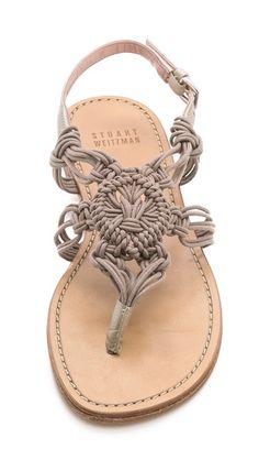 Stuart Weitzman Alfresco Macrame Sandals | Cynthia Reccord