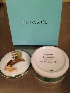 Tiffany & Co Exclusively For Washington Opera Placido Domingo Trinket Box