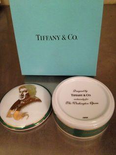Tiffany & Co Exclusively For Washington Opera Placido Domingo Trinket Box