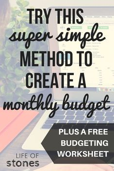 Budgeting doesn't need to be complicated...try this super simple method to create a monthly budget you can stick to. Get your free printable budgeting worksheets! debt-free | baby steps | Dave Ramsey | financial freedom | financial peace | personal finance budget | how to budget | Dave Ramsey | monthly budget