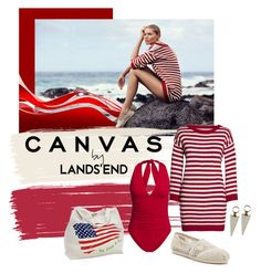 """""""Paint Your Look With Canvas by Lands' End: Contest Entry"""" by shoppe23 ❤ liked on Polyvore featuring Lands' End, Canvas by Lands' End and TOMS"""
