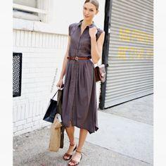 Simple dress on grey