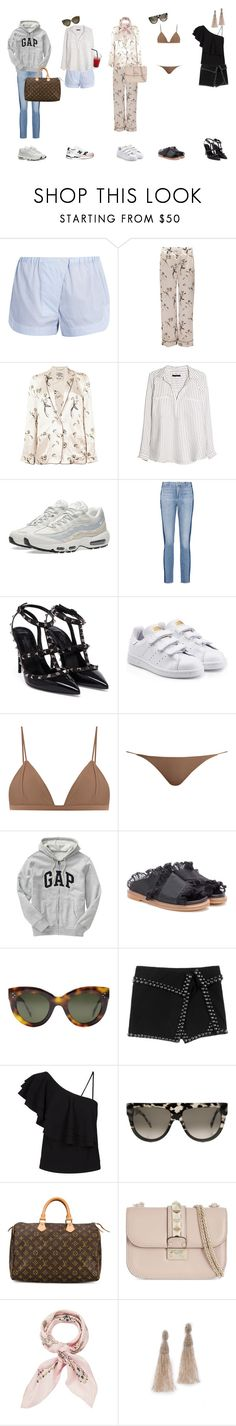 """Mallorca outfits"" by maya-isako ❤ liked on Polyvore featuring Three Graces, Baum und Pferdgarten, Violeta by Mango, NIKE, Vince, Valentino, adidas Originals, Jade Swim, Gap and Ganni"