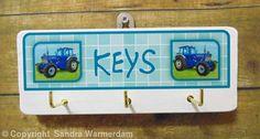 Wooden Key Hook, Ford Tractor - Handmade Wooden Key Hook