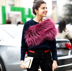 truly great stole. Leandra in NYC. #LeandraMedine #ManRepeller