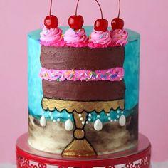 Gorgeous Faultine Cake #cake #faultline #faultlinecake    #Regram via @www.instagram.com/p/BzBZNTZgbyP/    #Regram via @By6URTegHRx