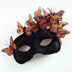 A delightful monarch mask