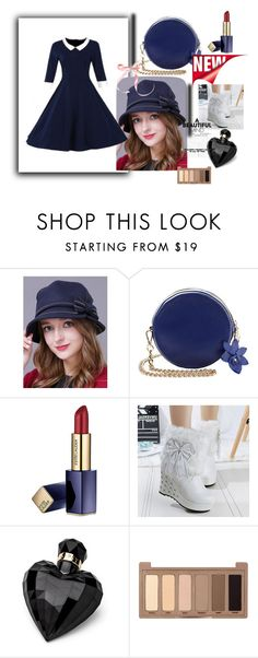 """""""Blue one 14"""" by m-sisic ❤ liked on Polyvore featuring Estée Lauder, Lipsy, Urban Decay, vintage, bluesky, bluesea and whiteone"""