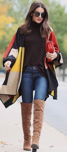 super, vain, look, day, poncho, jeans, smithkristen, pinned