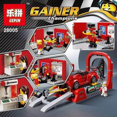 (34.99$)  Watch now - http://aihjr.worlditems.win/all/product.php?id=32801275694 - Lepin 28005 532Pcs Super Racer Series The FXX K and Development Center Set Educational Building Blocks Bricks Toys Gifts 75882