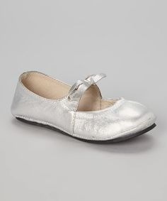 Loving this Silver Alpine Ice Leather Flat on #zulily! #zulilyfinds
