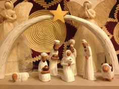 This gorgeous Fair Trade Indonesian Wood Nativity Set is hand carved from sustainable Albizia wood, This indigenous wood is silky smooth and lightweight, making for a absolutely stunning fair trade Christmas Nativity Set, Nativity Crafts, Merry Christmas To All, Christmas Scenes, Christmas Settings, Handmade Christmas, Christmas Holidays, Christmas Crafts, Christmas Decorations