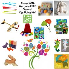Find great healthy ideas for Easter & Spring in Pure Play Kids' Spring Section and jump start your Easter with a FREE Natural Easter Egg Dye Kit!