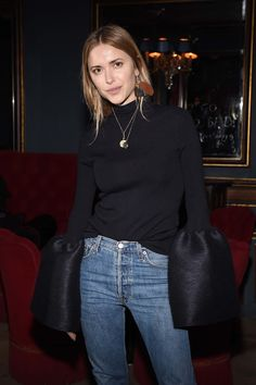 Pernille Teisbaek - Balmain after-party in Paris - March 3, 2016 #pfw