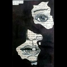 Altered-Book Poetry: These poems are common in altered-book journals (see here). It is often easier for people to take inspiration from the text on the. Kunstjournal Inspiration, Art Journal Inspiration, Art Inspo, Book Art, Book Page Art, Blackout Poetry, Poema Visual, Art Sketches, Art Drawings