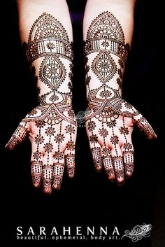 Bethany's bridal mehndi - paste on Henna Tatoos, Mehndi Tattoo, Mehndi Art, Henna Tattoo Designs, Mehandi Designs, Tattoos, Henna Palm, Indian Henna, Mehndi Patterns