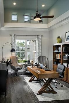 Nice 43 Extraordinary Small Home Office Design Ideas With Traditional Themes. When it comes down to it, we all work from home. Cozy Home Office, Home Office Space, Home Office Desks, Home Office Furniture, Home Office Lighting, Office Spaces, Kid Furniture, Cardboard Furniture, Furniture Stores